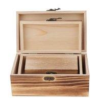 Bolsas de jóias, sacos 3pcs caso de armazenamento relógio caixa de jóia organizador de trinket de madeira