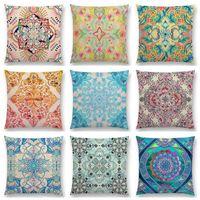 Cuscino / cuscino decorativo boho arte fiore splendido diamante floreale doodle natura botanica modello marocchino retrò cuscino decorazioni decorazioni divano