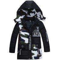 Bibihou meninas parka casaco bebê meninos moda camuflagem inverno jaqueta outwear crianças de algodão quente acolchoado y200901