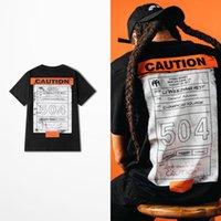 Nuevo diseño de moda de gran tamaño camiseta retro patineta High Street Drak Tokyo Ghoul Camiseta divertida Hombres PRECAUCIÓN 504 Imprimir TEE C0119
