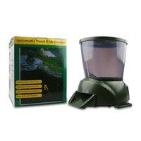 대용량 디지털 바이어스 피더 - 4L 물고기 음식 연못 수족관 휴일 KOI 수수료 QYLJMH TOYS2010