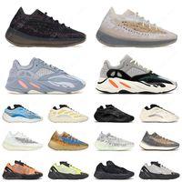 Yeezy Boost 700 V2 Kanye West 3m Reflective Orange Onde Wave Runner Hombres Zapatos Zapatillas de deporte Solid Solid Tael Tael Carbon Blue Designer Shoes