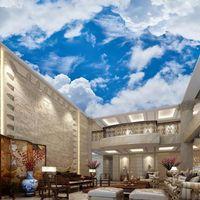Wallpapers personalizzato 3D PO wallpaper wallpaper wallpaper wall mural cielo blu e nuvole bianche decorazione pittura salotto murales