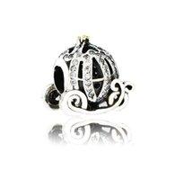 Braccialetto Pandora fit fai da te autentico 925 argento sterling sterling cenerentola zucca carrello perlina di fascino con chiara per il processo di gioielli