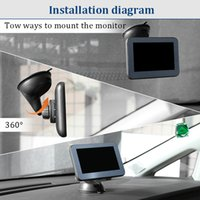 5 inch HD 1080P Car DVR Cameras Rear View Mirror Video Recorder, Dual Lens Reverse Backup Camera Dash Camcord ers AW501