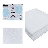 Großhandel! Sublimation Babydecke weiße leere sodan Teppiche Theramal Transferdruck Quilts Kundenspezifische Sublimationsdecken A12