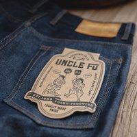 Maden Vintage Mens Denim Jean Big Tall Regular Fit Dritto Gamba dritta Raw Sluvege Denim Jeans Dark Blue Pant Pantaloni classici Pantaloni classici TROUS 201123