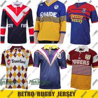 Retro Jersey Rugby Jersey Parramatta Eels Brisbane Broncos Warriors Canberra Melbourne Storm Sydney Rooster Nrl League S-5XL
