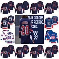 13 Alexis Lafreniere New York Rangers 2021 عكس الرجعية Liberty Artemi Panarin Kaapo Kakko Pavel Buchnevich Mika Zibanejad Jacob Jersey