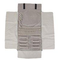 Ювелирные мешочки, сумки роскошные бархатные ювелирные изделия рулонные кольца серьги браслет дисплей организатор мешок серый