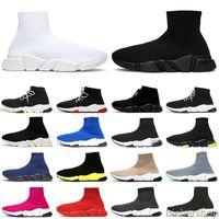 Nuevos zapatos de calcetines para hombres zapatillas de deporte entrenador de velocidad Black Blanco Clearsole Amarillo Fluo Azul Pink Moda Moda Casual Zapato Jogging