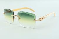 2021 المبيعات المباشرة عالية الجودة عدسة عدسة نظارات 3524020، نظارات معابد القرن الأبيض، الحجم: 58-18-140mm