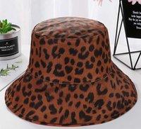 Ampio cappello da corn moda due lati nero leopardo secchio cappello per le donne reversibili panama sole estate signore signore spiaggia coreana pescatore