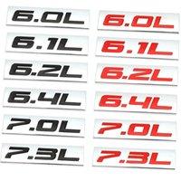 3D 6.0l 6.1l 6.2l 6.4l 7.0l 7.0l 7.3l سيارة شعار شارة ملصق ل دودج تشالنجر تويوتا فورد v8 سوبر suv كاديلاك شيفروليه تشيفي