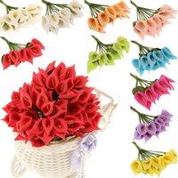 Dekoracyjne Kwiaty Wieńce 9cm 144PCS Mini Sztuczna Calla Lily Bukiet ślubny Piana Dla Party Dostaw Home Decoration