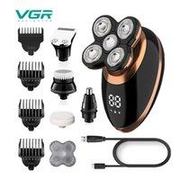 VGR бритва 5 в 1 Электрическая бритва плавающая USB аккумуляторная моющаяся мужская бритва личная уходная техника Электрическая бритва V-316