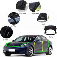 Tesla modeli için uygun 3 bütün araç kauçuk sızdırmazlık şerit kapı ses yalıtımı gürültü azaltma aksesuarları ışıklık su geçirmez bant