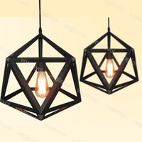 Подвесные светильники Loft 1M Висит 85-265V E27 Промышленный стиль Геометрический ромб Многогранный в помещении для столовой ресторан Coffee Bar DHL