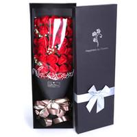 El yapımı Gül Buketi Sabun Çiçek Sevgililer Günü Noel Anne Günü Hediye Yeni Yıl Hediye Yapay Çiçek Buketi KKF3609