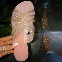Sandálias de Summer Shoes para Mulheres 2020 Bling Strass Senhoras Senhoras Beach Sandles Designer Luxo Sandalias Mujer Sandels # UL0V