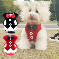 الكلاسيكية منقوشة الكلب الملابس تنفس سترة الكلب الصغيرة مع مشبك القوس الدافئة جرو جاكيتات الكلاب الملابس الحيوانات الأليفة اللوازم 10 تصاميم اختياري DHE3408