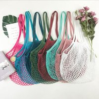 100pcs Reusable Shopping Bags Handbag Shopper Mesh Net Shopp...