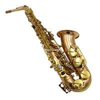 العلامة التجارية الجديدة Alto ساكسفون EB نغمة عطلت روز النحاس المهنية آلة موسيقية مع الذهب مطلية مفاتيح شحن مجاني