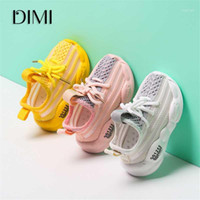 Dimi 2020 Nuovo Autunno Baby Shoes Boy Girl Girl Shoes Moda Traspirante Maglieria Lace Up Soft Bottom Child Sneakers1