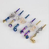 Новейшие алмазные анимированные металлические курительные трубы с крышкой сетка табака сигарета ручной фильтр красочные трубы бабочка череп паук крокодил
