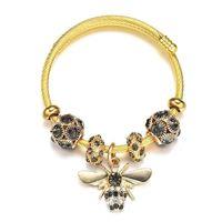 Ayarlanabilir Titanyum Çelik Altın Simli Arı Zincir Boncuklu Bilezik Kadınlar Için Kız Romantik Aksesuarları Moda Mücevher Bilezik