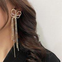 Cuello Araña Fyuan Long Tassel Pendientes de gota de cristal para las mujeres Bijoux Hollow Rhinestone Declaración Joyería Regalos1