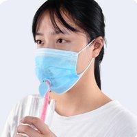 Bracket de máscara de silicone 3D com suporte de furo bebendo suporte interno conveniente para melhorar máscaras de respiração acessório de ferramentas CCA2854