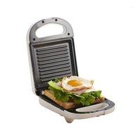 Elektrik Tavaya Mini Sandviç Makinesi Izgara Panini Yapışmaz Pan Waffle Tost Makinesi Kek Kahvaltı Makinesi Barbekü Biftek Kızartma Fırın1
