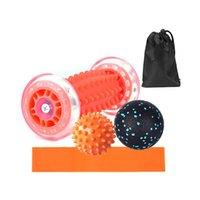 كرات اللياقة 5 قطع مجموعة اليوغا تدليك الأسطوانة الكرة رياضة ممارسة استرخاء الاسترخاء العضلي الشامل