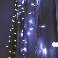 Commercio all'ingrosso 12m x 3m 1200-LED 110V caldo bianco caldo luce romantico natale decorazione all'aperto decorazione tenda stringa luce US Standard
