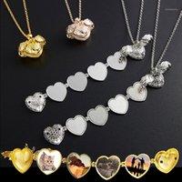 Caja de fotos de regalo de regalo del día de San Valentín puede abrir el collar del colgante del corazón cumpleaños para la novia Present1