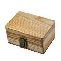Hand Rolling Zigarettenkästen Holz Stash Aufbewahrungsfälle Handgemachte hölzerne rauchende Tabak Werkzeug Zubehör einfach 28xb H1