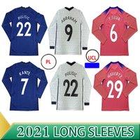 كم طويل CFC Pulisic Ziyech Havertz Kante Werner Abraham Chilwell Mount Jorginho Soccer Jersey 2020 2021 قميص كرة القدم جيرود