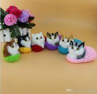 Super bonito simulação soando sapato gatinhos gatos pelúcia brinquedo miúdo apaziguado gato recheado boneca enviar namorada presentes de aniversário de Natal