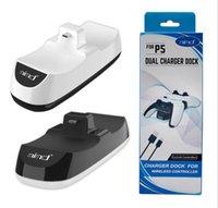 PS5 Contrôleur Controller Chargeur Dock Handle Contrôleur USB Chargeur USB Double Chargement Stand STABL station Porte-berceau pour la console de jeu PS5 Gamepad