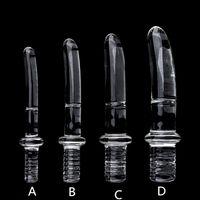 Diâmetro16 / 20/25 / 30mm grande punho de cristal de vidro dildo realista dildo artificial dildo anal estímulo brinquedos sexuais Dildo para mulheres vidro Y201118