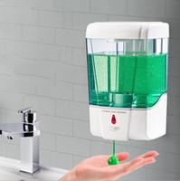 700ml Capacidade automática Soap Dispenser Touchless Sensor Hand Sanitizer Detergente Dispenser fixado na parede para o banheiro Cozinha