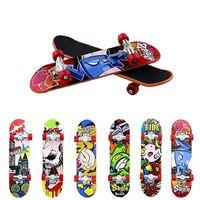 Игрушки 9.5 см Печать профессиональный сплав подставки для пальцев скейтборд мини-доски Skate Truck Finger игрушка для малыша случайных