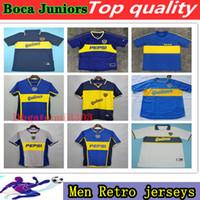 1981 1995 1995 1996 1997 1999 1999 2000 2002 2002 2002 2002 بوكا جونيورز الرجعية لكرة القدم الفانيلة Maradona الرومانية خمر كلاسيك قميص كرة القدم
