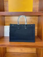 2021 Sac à bandoulière portable de luxe de luxe Lady Rive Gauche Linge et coton Vertical Shopping Sac fourre-tout Sac de transport de haute qualité