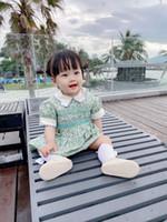 2021 Haute Qualité 100% coton Nouveau nouveau-né bébé bébé fille robe d'été décontracté princesse fête tutu floral robe princesse robes
