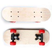 التزلج diy كتابات الخشب سجل اللون مزدوج الميل بو عجلة القيقب كروزر سكيت الأطفال لعبة مجلس