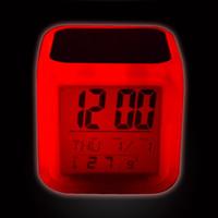 Reloj de alarma de sublimación en blanco LED Dormitorio cuadrado Resplandor Electronics LED Table Relojes Cuadrado Dormitorio Colorido Transferencia de calor Reloj GGA3843-3