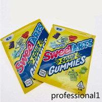 2021 Yeni Sweetarts Ekşi Gummies Packgaing Çanta 600 mg 500mg Ekşi Twists Wowheads Jöle Fasulye Mylar Şeker Paketleme Çantası Boş Fedex