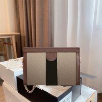 Classic Bag Stripes Floral Luxury Designer Designer Donne Borse a tracolla di Modo Filo Filo Filo Filo Catene vintage Flap Artwork Cross Body Borse